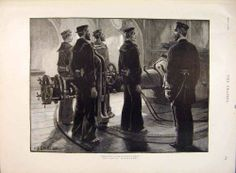 Antique Print Naval Manoeuvres Torpedo Drill Ironclad Staniland 1891