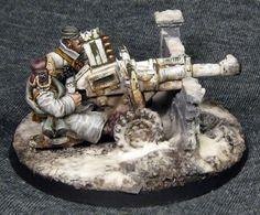 Mika Pirskanen uploaded this image to guard'. See the album on Photobucket. Warhammer Imperial Guard, 40k Imperial Guard, Warhammer Paint, Warhammer 40000, Ice Warriors, Jaina Proudmoore, Sci Fi Miniatures, Space Marine, War Machine