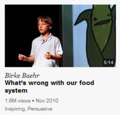 http://blog.naver.com/hyeonjoo1013/220081810539 현재 음식 유통과정 및 재배 과정에 의문을 제기한 어린이 버크베어의 테드 동영상 이예요. !