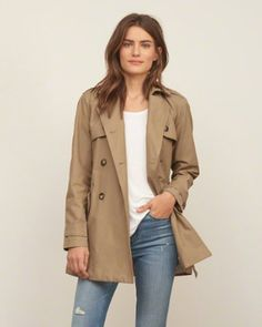 44712497cd2 Womens Classic Double-Breasted Trench Coat Outerwear Women