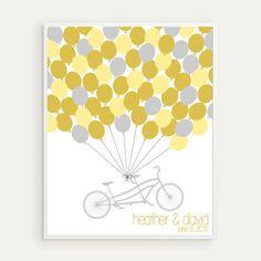 Custom Wedding Guest Book Alternative Balloons by HighburyPlace, $38.00