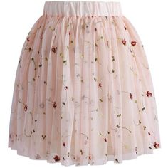 Chicwish My Fairy Roses Mesh Tulle Skirt (€39) ❤ liked on Polyvore featuring skirts, bottoms, pink, pink ballet skirt, rose skirt, tulle skirt, pink ballerina skirt and chicwish skirt