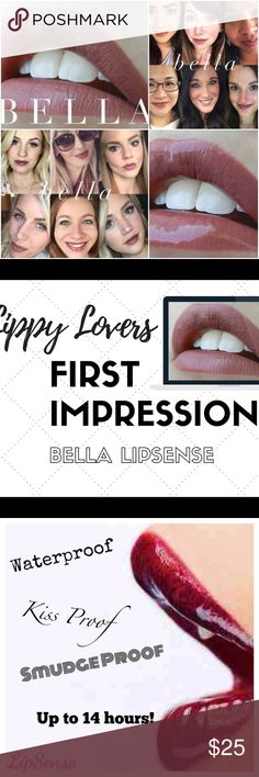 Lipsense Bella The premier product of Senegence, LipSense lasts all day – up to 18 hours. It is water-proof, kiss-proof, smudge-proof, and completely budge-proof. LipSense comes in a variety of captivating colors and can be layered to produce your own custom look. lipsense Makeup Lipstick