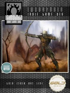 Gold Stock Art - Orc Archer - 1manstudio | RPGNow.com