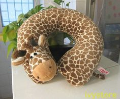 giraffe plush U pillow neck cushion