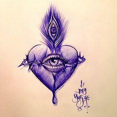 Heart eye artwork by Big Gus.