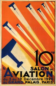 Vintage French air show poster.