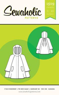 Sewaholic - Cypress Cape⎜Cape Pattern – The Cloth Pocket