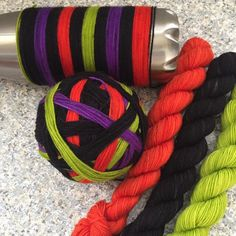 Faerie Dance Hand dyed self striping merino sock yarn