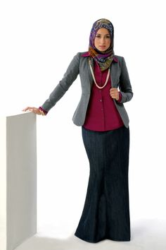 Formal Hijabi Outfit Idea ... (perfect for hijabi teachers)