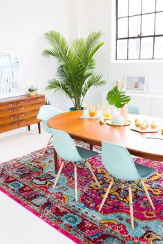 How decorate a joyful and modern dining room for Summer!