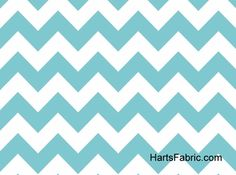 Light Blue Chevron Stripe Cotton Fabric. hartsfabric.com