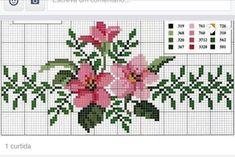 Lilly flower x-stitch Easy Cross Stitch Patterns, Simple Cross Stitch, Cross Stitch Rose, Cross Patterns, Cross Stitch Flowers, Cross Stitch Designs, Cross Stitching, Cross Stitch Embroidery, Christmas Embroidery Patterns