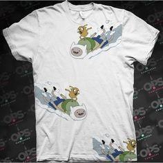 Camiseta Jake  e Finn Snow - Hora de Aventura