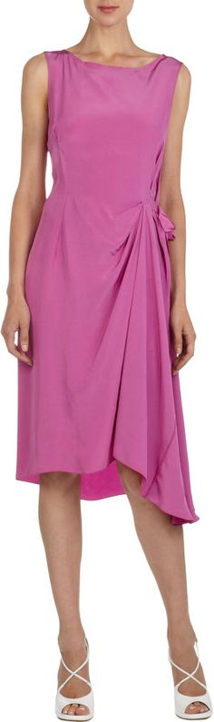 Nina Ricci Sleeveless Dress With Asymmetric Draping