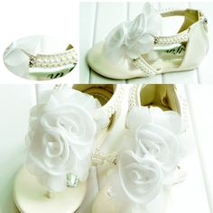 Per Neonate Scarpe Dolly Scarpe Fiore Ragazza Baby Ragazze caramello Scarpe