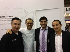 TSSC Dubai (Rashid & Leith Bahar) with Fusionchef by Julabo, Mr. Livius Schuessele and HotmixPRO Chef Massimo Bottura at Host Fiera Milano 2013