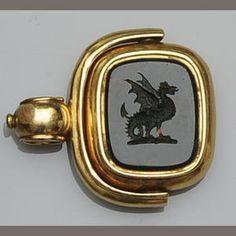 V Elegant Early 19thc French Jade Handle Silver Matrix