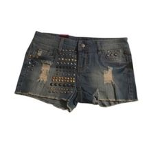 """🆕Material Girl Denim Shorts *NWT* Material Girl """"Ibiza"""" denim shorts. Cute embellishments at front. Perfect festival shorts!   Size 5. Has some stretch.   Gentle cycle wash.  99% Cotton 1% Spandex    🔆BUNDLE & SAVE🔆.                          ✳️Smoke/pet free home  📦Shipment Days: Monday, Wednesday & Friday •Don't forgot to check out my CURRENT UPDATES listing Material Girl Shorts Jean Shorts"""