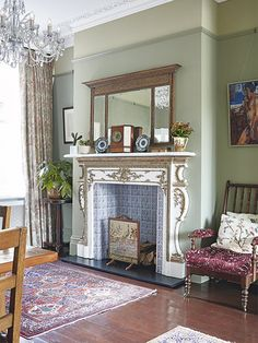 A fireplace can make or break a living space and is an important feature in adding to the character of your period home. Have a look through some of our favourite traditional fireplace design ideas Wooden Fireplace, Fireplace Design, Fireplace Ideas, Victorian Living Room, Victorian Homes, Office With Fireplace, Period Living, Traditional Fireplace, Home Office Decor