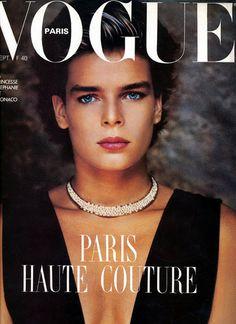 Princess Stephanie Of Monaco - Vogue Paris Sept 1986 by Helmut Newton
