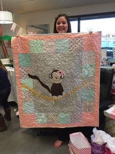 A quilt I designed for Kayla's baby - her nursery has a monkey theme