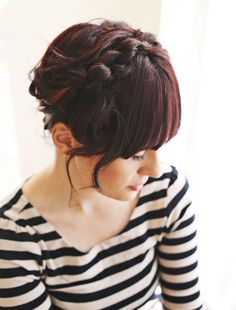 "knot hairstyle (""I love how the knots create a more textured look than regular maiden braids."") #hairtutorial"