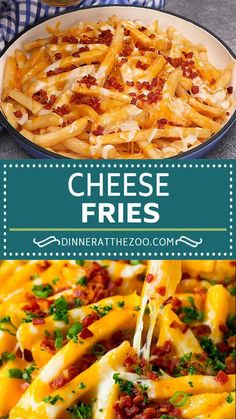 Easy cheese fries loaded with bacon, a simple and fun snack. food videos for dinner easy kids Cheese Fries Bacon Cheese Fries, Recipe For Cheese Fries, Chilli Cheese Fries, Cheesy Recipes, Mexican Food Recipes, Loaded Fries Recipe, Ground Beef Recipes, Appetizer Recipes, Dinner Recipes
