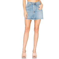 AGOLDE Quinn High Rise Mini Skirt (€130) ❤ liked on Polyvore featuring skirts, mini skirts, white skirt, high rise skirts, cotton mini skirt, high waisted short skirts and high-waisted skirts