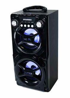 Bluetooth Speaker Sylvania Black Portable Smartphone Bass HUGE Stereo Sound for sale online Party Speakers, Stereo Speakers, Bluetooth Speakers, Portable Speakers, Ipod, Smartphone, Usb, Blue Led Lights, Outdoor Speakers