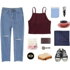 Esther by anastuhec on Polyvore featuring Aéropostale, Converse, E.vil, Thalgo, JCPenney Home, Spring, converse and beoriginal