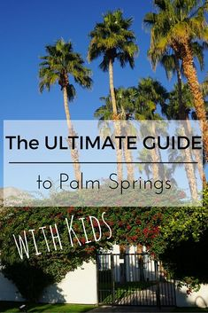 Palm Springs is NOT just for adults anymore. There are a ton of fantastic things to do & see as a family. Check out this ULTIMATE Guide to Palm Springs with Kids.