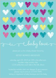 Baby Love Boy Baby Shower Invitation available at Shutterfly