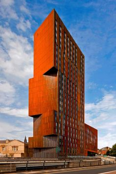 """This building looks like a 'monument' to Leeds industrial past!""""Broadcasting Place"""" UK : Leeds development - design by Feilden Clegg Bradley Studios Facade Architecture, Contemporary Architecture, Burger Bar, Interesting Buildings, Commercial Architecture, Facade Design, Built Environment, Corten Steel, Land Scape"""