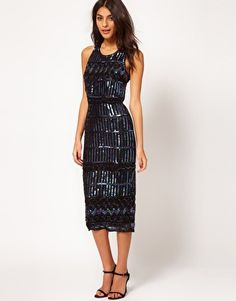 ASOS Midi Dress with Holographic Embellishment