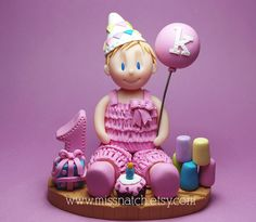 Pink Pastel First Birthday Cake Topper by missnatch.etsy.com First Birthday Cake Topper, Cake Toppings, Girl Cakes, Christening, First Birthdays, New Baby Products, Special Occasion, Bridal Shower, Pastel