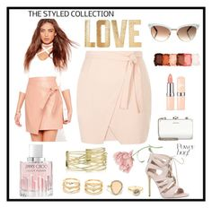 """""""#under50 #skirtunder50"""" by annabelle2222 on Polyvore featuring New Look, Missguided, Carvela, Jimmy Choo, NYX, Miu Miu, PBteen, LULUS, Gucci and under50"""