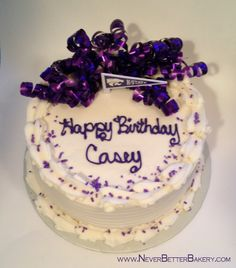 Casey's Birthday Cake. March 31, 2014. Chocolate Cake with Vanilla buttercream frosting.