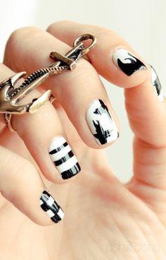 Black & White nailart