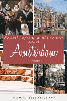 October is officially the fall season in Amsterdam which means the leaves are changing colors, the weather is cooling off, and the city starts to feel more cozy and romantic. If you love fall and all that it brings, Amsterdam is the perfect place to fully feel this season. Plus, there are even some special events that take place in Amsterdam in October that should not be missed. Amsterdam Itinerary, Amsterdam City Guide, Amsterdam Travel, Fall Season, Perfect Place, Color Change, Falling In Love, Special Events, Travel Guide