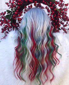 dyed hair everywhere - - Cute Hair Colors, Hair Dye Colors, Cool Hair Color, Scene Hair, Scene Bangs, Sisterlocks, Locs, Leda Muir, Yellow Hair
