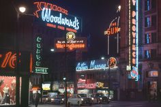 Fred HERZOG :: Arthur Murray [Neon jungle at Hastings and Carrall], 1958