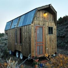Rustic Cabin on Wheels, 198 sq. ft. Dolores, Colorado; 198 sq. ft. (pinned by haw-creek.com)