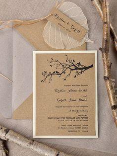 Custom listado de invitación de boda rústica por forlovepolkadots