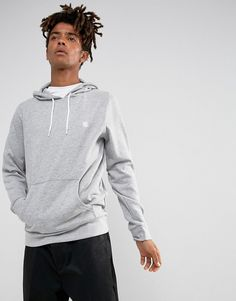Element Cornell Logo Hoodie in Gray