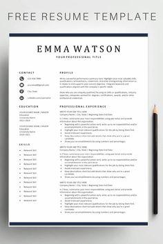 Free Simple Resume Templates - Finance tips, saving money, budgeting planner Basic Resume, Job Resume, Resume Tips, Visual Resume, Professional Resume Examples, Resume Template Examples, Resume Ideas, Cv Examples, Professional Presentation