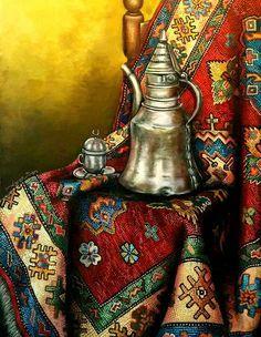 halı Islamic Calligraphy, Calligraphy Art, Arabian Art, Islamic Paintings, Art Optical, Arabic Design, Turkish Art, Egyptian Art, Arabesque