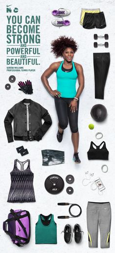 Serena Williams' favorite gear for working up a sweat in style. #training #nike