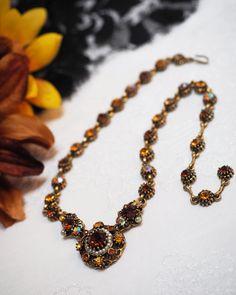 Rare Designer WEISS Topaz Amber Orange AB by VintageMagnifique