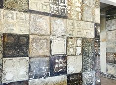 Recycled metal ceilings. Rezis Square, Bfn